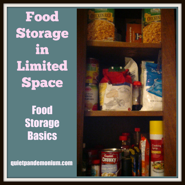 Food Storage in Limited Space–Food Storage Basics
